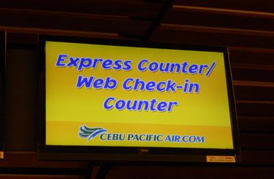 確定好線上check-in快速櫃檯位置