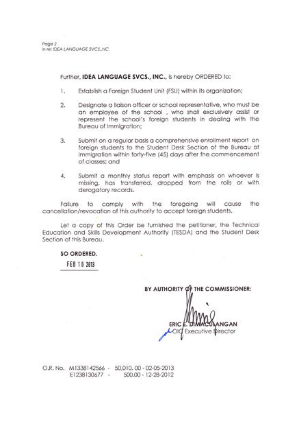 菲律宾游学-宿雾-IDEA-菲律宾移民署 SSP 认证