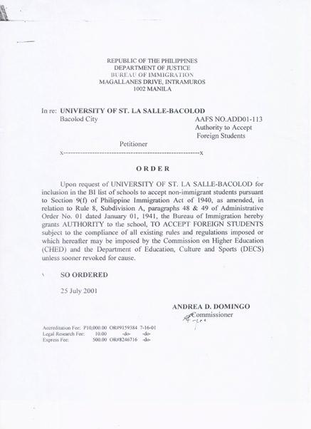菲律宾移民署 SSP 认证