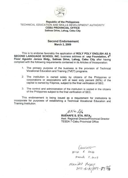 菲律宾游学-宿雾-USPF-教育部TESDA认证